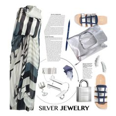 """Silver jewelry contest"" by ansev ❤ liked on Polyvore"