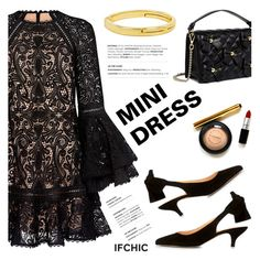 """Shop Now: MINI DRESS"" by ifchic ❤ liked on Polyvore featuring Alexis, Ganni, Boutique Moschino, Giles & Brother and contemporary"