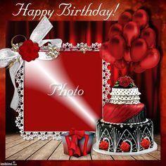On your birthday Marycarmenkim birthdays Birthday Photo Frame, Happy Birthday Frame, Birthday Cake With Photo, Happy Birthday Candles, Birthday Frames, Happy Birthday Banners, Family Picture Frames, Picture Frame Decor, Happy Birthday Wishes Photos