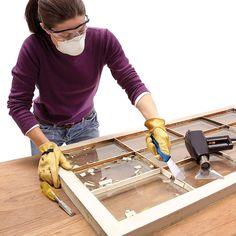 How to Glaze a Window (Single Pane) Wooden Windows, Old Windows, Antique Windows, Vintage Windows, Antique Doors, House Windows, Old Window Projects, House Projects, Furniture Projects