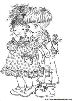Imagem de http://www.desenhosparacolorir.org/desenhos/Sarah%20Kay/sarah_09.jpg.