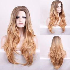 Description: Easy to Wear, adjust the hooks inside the cap to the correct size to suit your head. Reusable and breathable, not easy to fall off, easy to mainta Short Hair Wigs, Curly Wigs, Long Curly Hair, Blonde Wig, Blonde Ombre, Wig Styles, Curly Hair Styles, Celebrity Wigs, Natural Wigs
