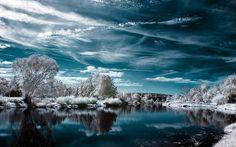 Paysage d'hiver exquis.