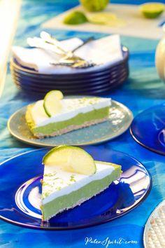 Paleo/Nut-Free/Vegan Key Lime Pie from Paleo Spirit via All Gluten-Free Desserts Best Gluten Free Desserts, Paleo Sweets, Sugar Free Recipes, Paleo Dessert, Vegan Desserts, Dessert Recipes, Diabetic Sweets, Healthier Desserts, Autoimmun Paleo