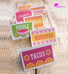 Free Mexican Food signs for your next fiesta party, uuuhhhh this would work for my Mexican party. Mexican Birthday Parties, Mexican Fiesta Party, Fiesta Theme Party, Taco Party, Fiesta Party Decorations, Mexican Party Favors, Mexico Party Theme, Fiesta Games, Mexican Decorations