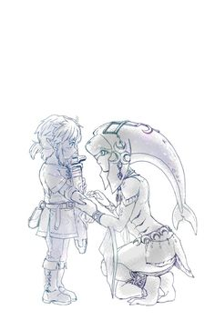 Little Link and Mipha