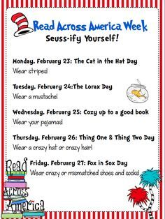 Ways to Seussify yourself for Dr. Read Across America Celebration: Fun Events All Week Long! Ways to Seussify yourself for Dr. Read Across America Celebration: Fun Events All Week Long! Dr. Seuss, Dr Seuss Week, Dr Seuss Activities, Reading Activities, Birthday Activities, Sequencing Activities, Educational Activities, Teaching Reading, Toddler Activities