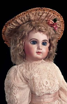 In the Mind's Eye - The Geri Baker Collection: 347 Very Beautiful French Bisque Bebe E.J. by Jumeau,Size 12
