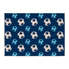 You will love this cool soccer ball sky blue and tan pattern on dark navy, midnight blue chevron stripes background.