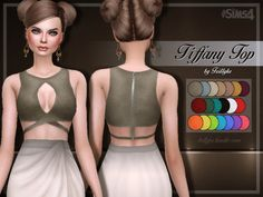 Trillyke Tiffany Top by Trilly21 at TSR via Sims 4 Updates