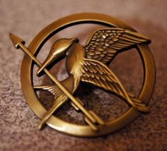 Pin from the Hunger Games. I would wear this as a necklace.