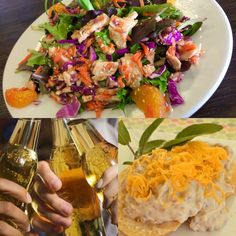 Another beautiful Tucson day. Today we launch ALL NEW MENUS! Enjoy our new creations, and today's lunch, an Asian chopped chicken salad & curried vegetable soup, $1 off all beers all day xo #GhinisFrenchCaffe #MadeFromScratchDaily #NewMenus