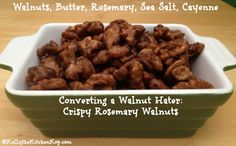 crispy walnuts #WAPF