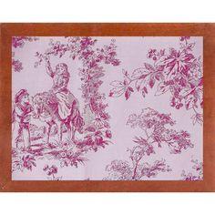 Ophelia & Co. 'Toile Fabrics IV' Graphic Art Print Format: Canadian Walnut Medium Framed