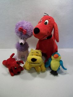 Large Lot of CLIFFORD the big red dog CLEO T-BONE plush toys C USED