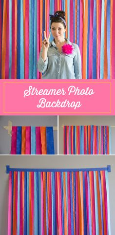 How to make a Streamer photobooth backdrop.