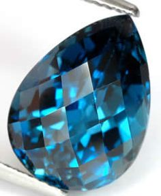 """London Blue: a topaz's color """"results from so-called color centers, which are imperfections in the crystal lattice that change the way the crystal absorbs light."""""""