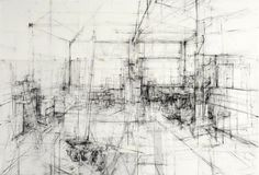Ginny GRAYSON Interior..The Dust Absorbs.., 2009 Charcoal on paper 328 x 300 cm