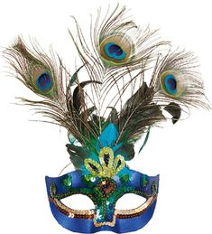 Perfect mask for any masquerade party, new years eve, Carnival. Peacock Mask, Peacock Costume, Halloween City, Halloween Costumes, Mask Images, Traditional Japanese Tattoos, Gothic Fairy, Masquerade Party, Masquerade Masks