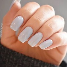 simple solid nail art design ideas #nailart #naildesign #nailideas Cute Acrylic Nails, Acrylic Nail Designs, Nail Art Designs, Sally Hansen, Winter Nails, Summer Nails, Nagellack Design, Color Celeste, Nagel Hacks