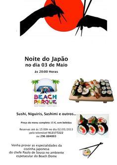 Noite da comida Japonesa no Beach Parque