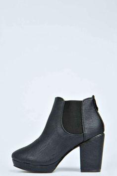 Black Elastic Insert Ankle Chelsea Boot black