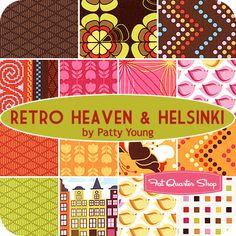 Retro Heaven & Helsinki Fat Quarter Bundle Patty Young for Michael Miller Fabrics - Fat Quarter Shop