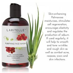 Laritelle Organic Face Wash-Purifying, Moisturizing and Skin... ($19) ❤ liked on Polyvore featuring beauty products, skincare, face care and face toners