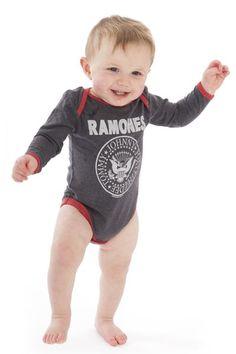Ramones Logo Marl Babygrow - Amplified Kids