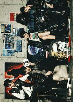 Vogue Korea, December 2015 Issue : EXO x STAR WARS Collaboration - Chen, Suho, Sehun and Kai