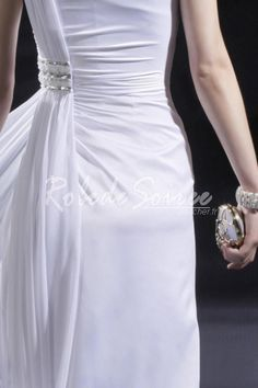 Gaine une épaule robe de soirée Réunis pli blanc [RDS1302040143] - €160.54 : Robe de Soirée Pas Cher,Robe de Cocktail Pas Cher,Robe de Mariage,Robe de Soirée Cocktail.