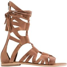Free People Mesa Verde Gladiator Sandals in Tan as seen on Lauren Bushnell