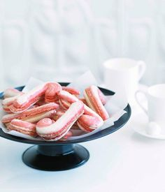 Australian Gourmet Traveller Christmas dessert recipe for candy cane macarons by Adriano Zumbo. Adriano Zumbo, Chef Recipes, Cookie Recipes, Dessert Recipes, Christmas Desserts, Christmas Baking, Christmas Recipes, Macarons Christmas, Gourmet