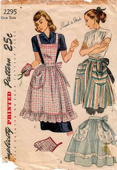 1950s Simplicity 2295 Vintage Sewing Pattern Misses Full