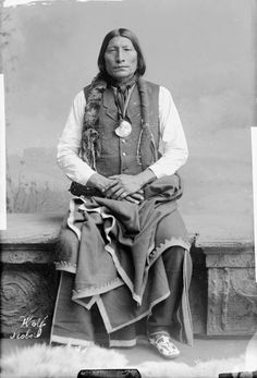 Wolf Robe was chief of the Southern Cheyenne Tribe and he's wearing his Benjamin Harrison Presidential Medallion. Description from pinterest.com. I searched for this on bing.com/images