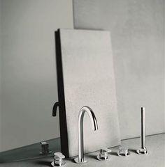 grifo borde-empotrado-fantini-lissoni podrás comprar en terracermica.es #grifos #grifería #baños #diseño #arquitectura #terraceramica