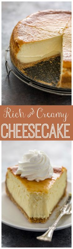 This extra rich and creamy cheesecake is freezer friendly and so delicious! Perfect for special occasions!