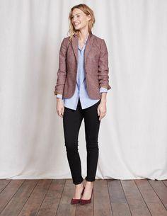 Elizabeth British Tweed Blazer WE551 Workwear Collection at Boden