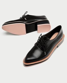ZARA - WOMAN - DERBY SHOES WITH COLOURED SOLES