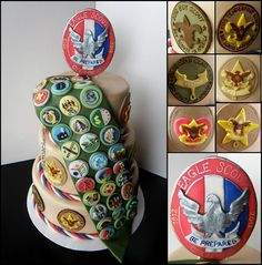 Fondant Lego Cake Topper Tutorial: Perfect for Parties! Eagle Scout Badge, Boy Scouts Merit Badges, Themed Birthday Cakes, Themed Cupcakes, Boy Birthday, Lego Cake Topper, Eagle Scout Ceremony, Edible Cake Decorations, Cake Topper Tutorial