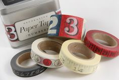 Cavallini Numbers Paper Tapes Assortment NUMBERS 5 Rolls $16 I may have pinned this already