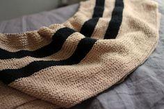 A Common Thread — knit striped garter stitch blanket