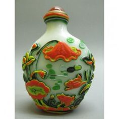 "Old Chinese Peking Glass Snuff Bottle 3"""