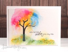 Scene Painting with Distress Paints – Color Wednesday #35