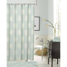 Dainty Home Rose Shrink Yarn Shower Curtain - RODASCAQ