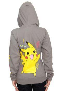 7bf4e073 Buy Pokemon Pikachu Grey Girls Hoodie at Wish - Shopping Made Fun