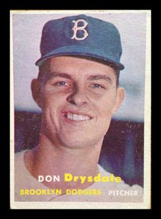 1957 Topps #18 Don Drysdale RC Rookie Card