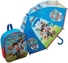 Paw Patrol Backpack & Umbrella Set Paw Patrol Umbrella, Backpack Umbrella, Paw Patrol Backpack, Junior Backpacks, Bubble Umbrella, Childrens Luggage, Kids Umbrellas, School Essentials, Vera Bradley Backpack