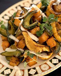 Roasted Squash with Maple Syrup and Sage Cream Recipe on Food & Wine