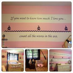 Pokój Marynistyczny wersja dla dziewczynek